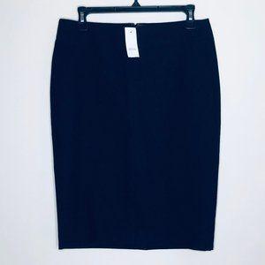 NWT LOFT Black Scuba/Ponte Knit Pencil Skirt Sz 6
